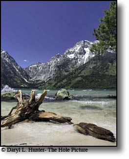 Windy day, Leigh Lake, Grand Tetons, Grand Teton National Park