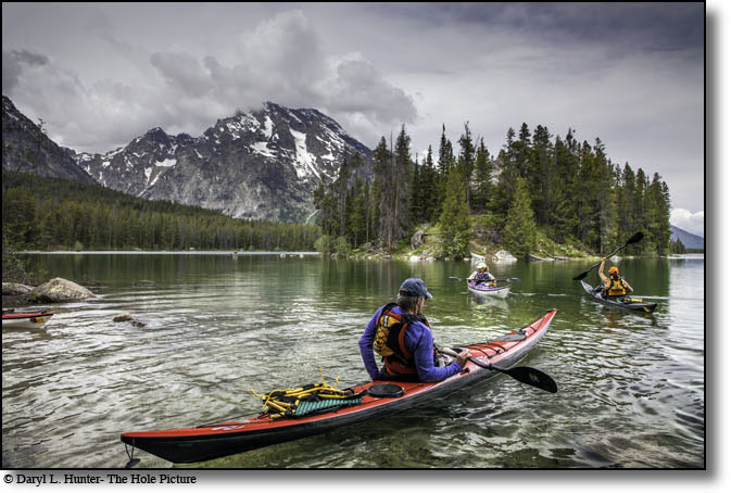 Kayakers, Leigh Lake, Grand Teton National Park