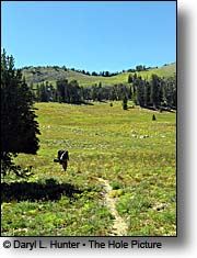 backpacker Gros Ventre Wilderness