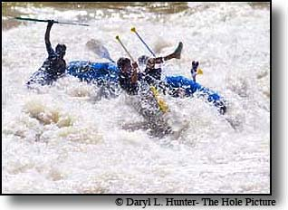 whitewater rafters, Yankee Jim Canyon