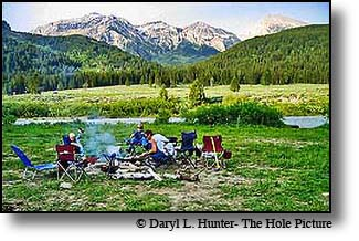 Campers, Granite Creek, Gros Ventre Mountains