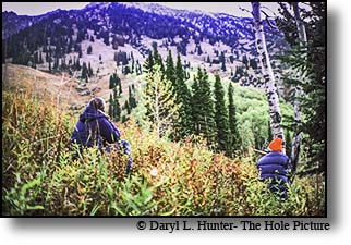 Elk Hunters Gros Ventre Wilderness