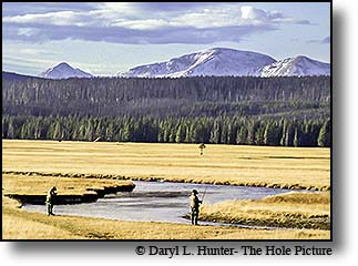 fly-fishermen, Gibbon river, Gallatin Mountains, Yellowstone National Park