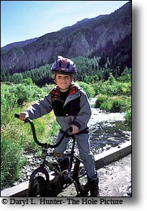 Young mountain biker