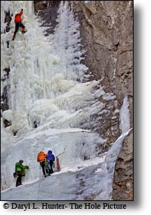 Waterfall Ice Festival, Ice climbers, Cody Wyoming