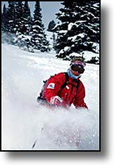 skier in powder Jackson Hole Mountain Resort