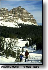 cross country skiing Towgotee Pass Shoshone National Forest